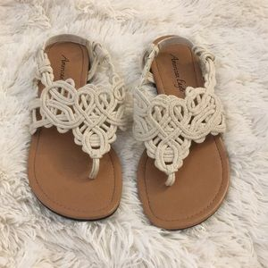 Braided sandals size 8